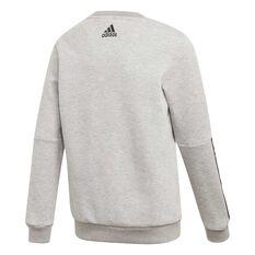 adidas Boys Crewneck Sweatshirt Grey / Black 4, Grey / Black, rebel_hi-res