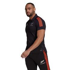 All Blacks 2021 Mens Polo Black S, Black, rebel_hi-res