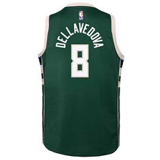 Nike Milwaukee Bucks Matthew Dellavedova Icon 2019 Kids Swingman Jersey Green S, Green, rebel_hi-res