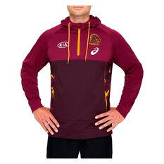 Brisbane Broncos 2021 Mens Training Hoodie, Maroon, rebel_hi-res