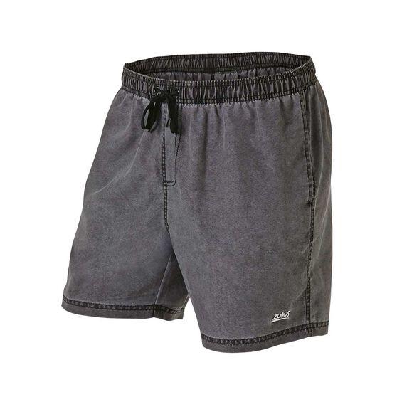 Zoggs Mens Phoenix Board Shorts, Black, rebel_hi-res
