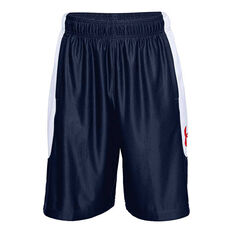 Under Armour Mens Perimeter 11in Shorts Navy / White XS, Navy / White, rebel_hi-res