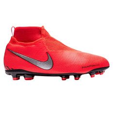 Nike Phantom Vision Elite Dynamic Fit Kids Football Boots Red / Silver US 4, Red / Silver, rebel_hi-res