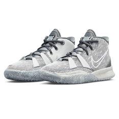 Nike Kyrie 7 Chip Kids Basketball Shoes, Grey, rebel_hi-res