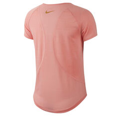Nike Womens 10K Glam Dunk Running Tee Orange XS, Orange, rebel_hi-res