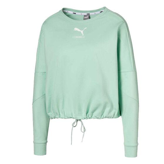 Puma Womens NU-tility Sweatshirt, Green, rebel_hi-res