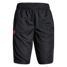 Under Armour Girls SC30 Shorts Black / Pink XS, Black / Pink, rebel_hi-res