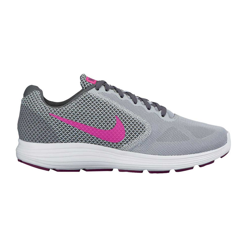 Nike Revolution 3 Womens Running Shoes Grey   pink US 6.5  ed0e2d050e