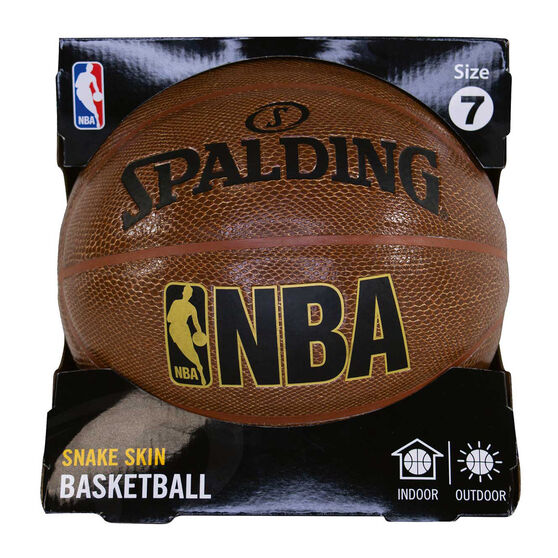 Spalding NBA Trend Series Brown Snake Skin Basketball Brown 7, Brown, rebel_hi-res