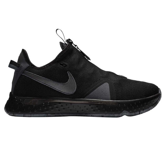 Nike PG 4 Mens Basketball Shoes, Black/Grey, rebel_hi-res