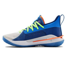 Under Armour Curry 7 Kids Basketball Shoes Multi US 4, Multi, rebel_hi-res