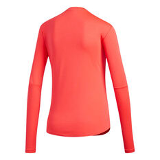 adidas Womens Own the Run Long Sleeve Tee Red XS, Red, rebel_hi-res