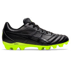 Asics Lethal Flash IT Kids Football Boots Black/Yellow US 1, Black/Yellow, rebel_hi-res