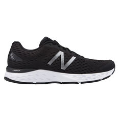 New Balance 680 v5 4E Mens Running Shoes Black / White US 8, Black / White, rebel_hi-res