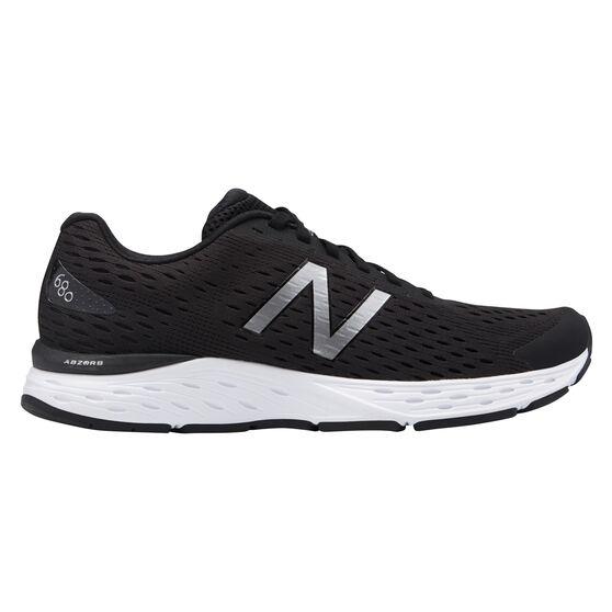 New Balance 680 v5 4E Mens Running Shoes Black / White US 8, Black / White, rebel_hi-res
