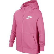 Nike Air Girls Full-Zip Hoodie Pink / White XS, Pink / White, rebel_hi-res