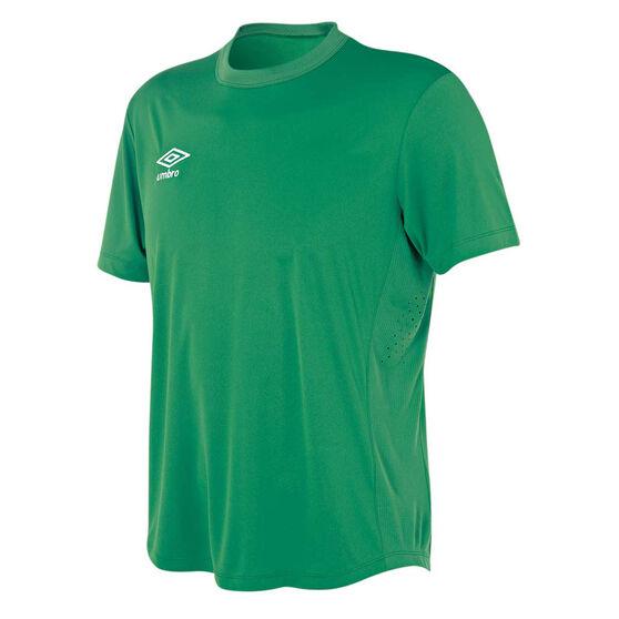 Umbro Mens League Knit Jersey, Green, rebel_hi-res