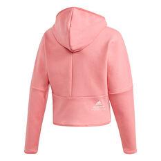 Adidas Girls ZNE Full Zip Hoodie, Pink, rebel_hi-res