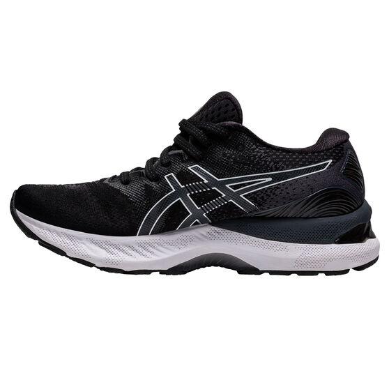 Asics GEL Nimbus 23 D Womens Running Shoes, Black/White, rebel_hi-res