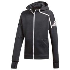 adidas Boys Z.N.E Hoodie Black / White 8, Black / White, rebel_hi-res