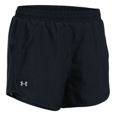 Under Armour Womens Fly By Running Shorts Black XS, Black, rebel_hi-res