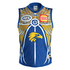 West Coast Eagles 2019 Mens Indigenous Guernsey Blue / Yellow S, Blue / Yellow, rebel_hi-res