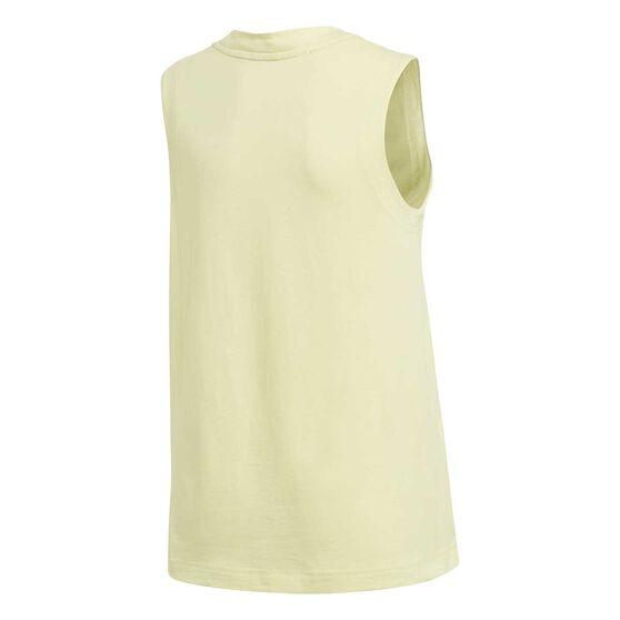adidas Girls XFG Tank Top, Yellow / White, rebel_hi-res