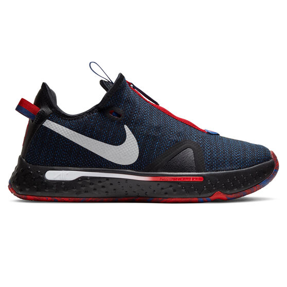 Nike PG 4 Mens Basketball Shoes, Black/Silver, rebel_hi-res