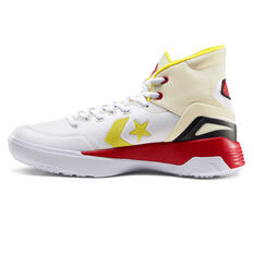 Converse G4 Mid Mens Basketball Shoes White/Yellow US 7, White/Yellow, rebel_hi-res