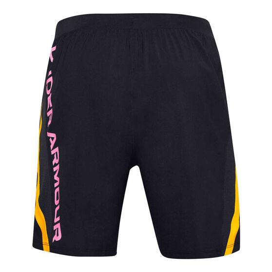 Under Armour Mens UA Launch SW Shorts, Black, rebel_hi-res