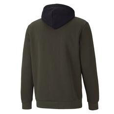 Puma Mens Essentials Big Logo Fleece Hoodie, Green, rebel_hi-res