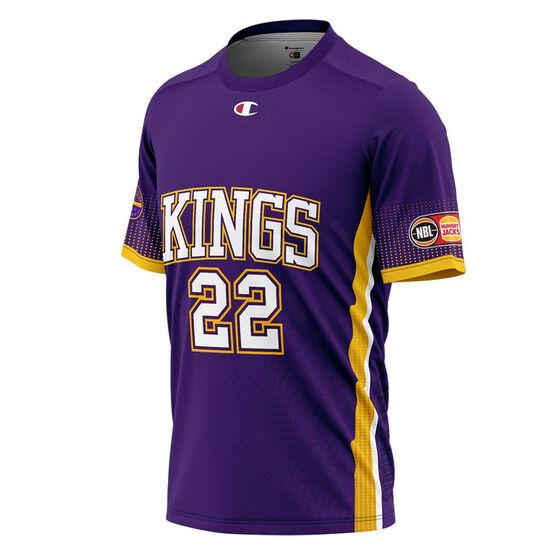 Sydney Kings Casper Ware Jr. Mens Shooting Tee, Purple, rebel_hi-res