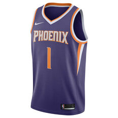Nike Phoenix Suns Devin Booker 2019 Mens Swingman Jersey Purple M, Purple, rebel_hi-res