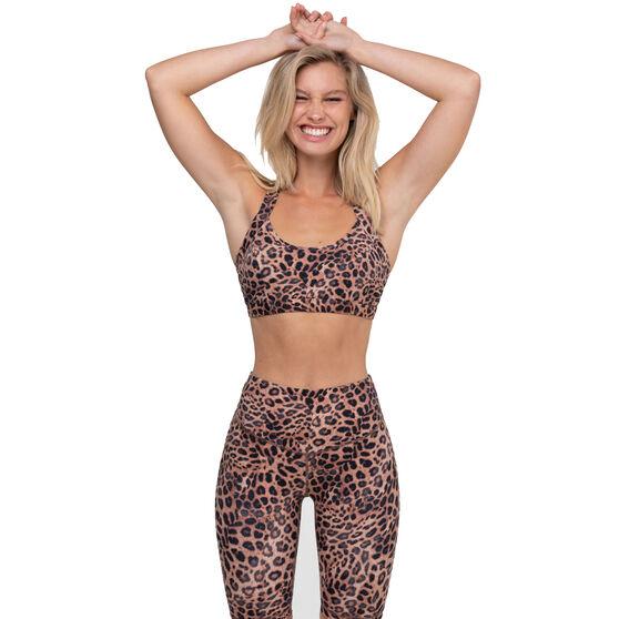 L'urv Womens Leopard Valley Bralette, Print, rebel_hi-res