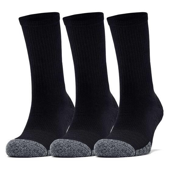Under Armour HeatGear Crew Socks, Black, rebel_hi-res