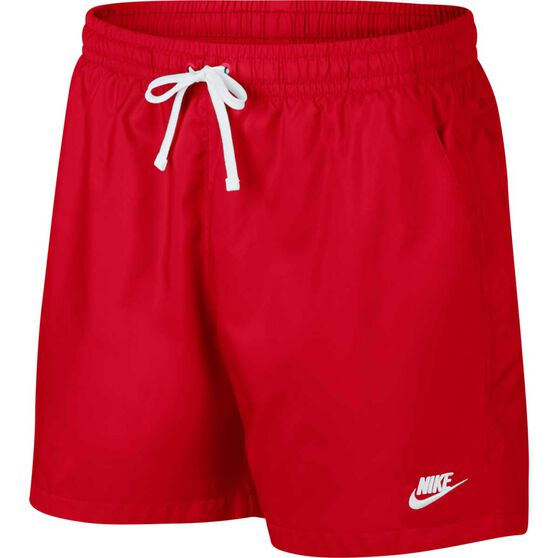 Nike Mens Sportswear Woven Flow Shorts, Red, rebel_hi-res