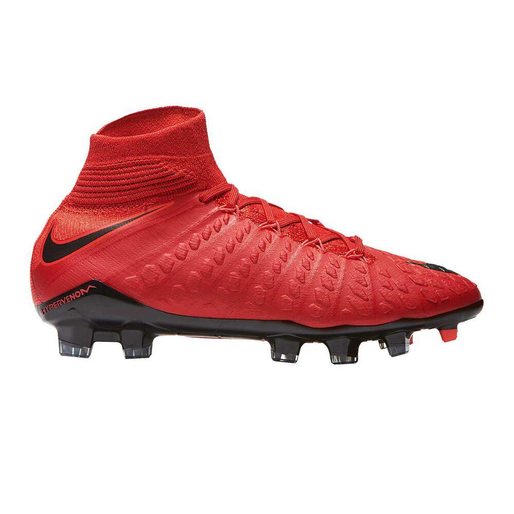 timeless design ad3a8 c30e5 Nike Hypervenom Phantom III DF Junior Football Boots Red / Black US 4  Junior, Red