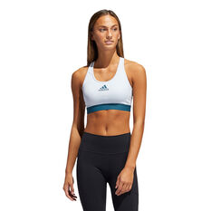 adidas Womens Don't Rest Alphaskin Padded Sports Bra, Blue, rebel_hi-res