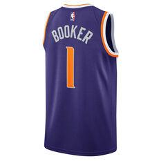 Nike Phoenix Suns Devin Booker 2019 Mens Swingman Jersey Purple M, Purple, rebel_hi-res