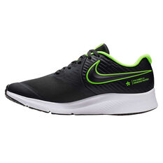 Nike Star Runner 2 Kids Running Shoes Grey / Green US 4, Grey / Green, rebel_hi-res