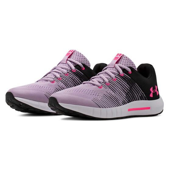 Under Armour Pursuit NG Kids Running Shoes, Purple / White, rebel_hi-res