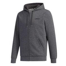 adidas Mens Essentials Full Zip Fleece Hoodie Grey XS, Grey, rebel_hi-res