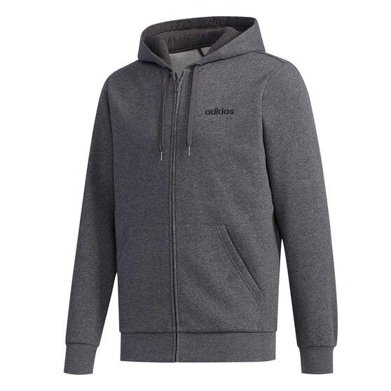 adidas Mens Essentials Full Zip Fleece Hoodie, Grey, rebel_hi-res