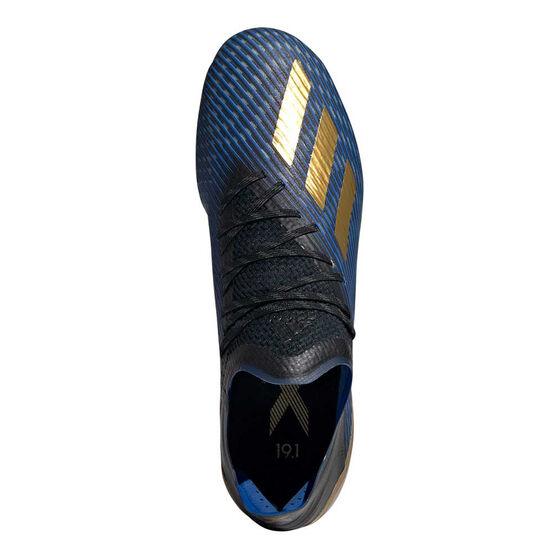 adidas X 19.1 Mens Football Boots, Black / Gold, rebel_hi-res