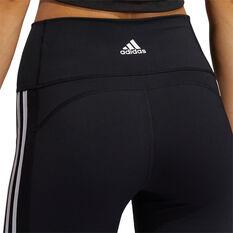 adidas Womens Believe This 2.0 3-Stripes 7/8 Tights, Black, rebel_hi-res