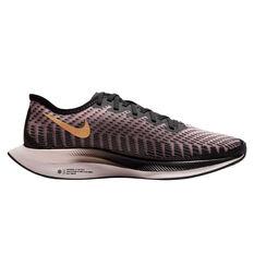 Nike Zoom Pegasus Turbo 2 Womens Running Shoes, Black / Gold, rebel_hi-res