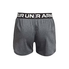 Under Armour Girls Play Up Solid Shorts Grey/Silver XS XS, Grey/Silver, rebel_hi-res