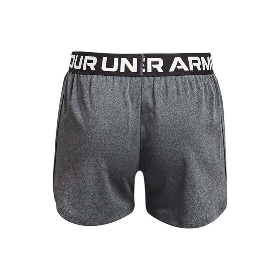 Under Armour Girls Play Up Solid Shorts, Grey/Silver, rebel_hi-res