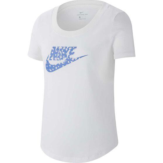 Nike Girls Sportswear Tee, White, rebel_hi-res