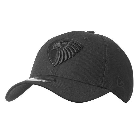 Hawthorn Hawks New Era Black on Black 9FORTY Cap, , rebel_hi-res